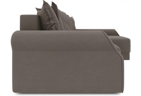 Диван угловой правый «Люксор Т2» (Kolibri Mocco (велюр) коричневый) - фото 3