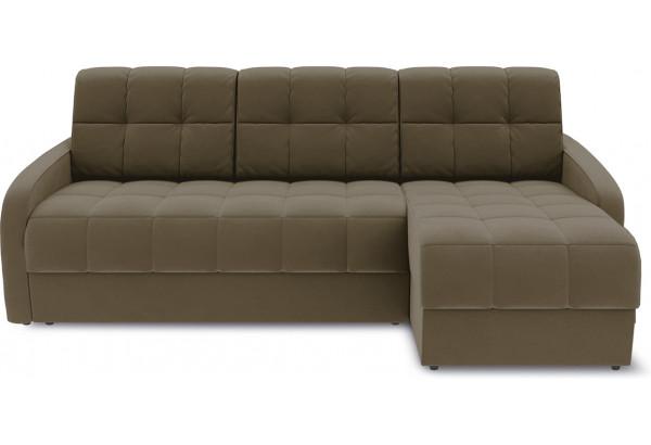 Диван угловой правый «Аспен Slim Т1» (Beauty 04 (велюр) коричневый) - фото 2