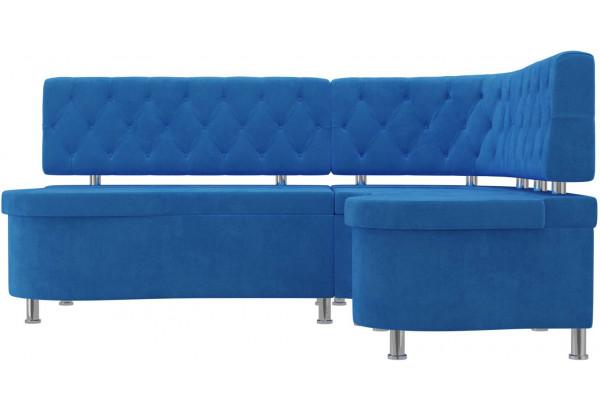 Кухонный угловой диван Вегас Голубой (Велюр) - фото 2