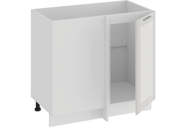 Шкаф напольный угловой «Ольга» (Белый/Белый) - фото 2