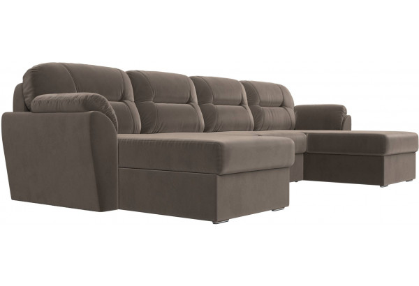 П-образный диван Бостон Коричневый (Велюр) - фото 3