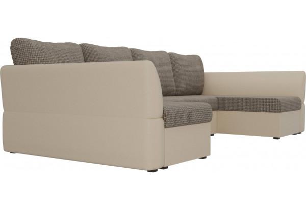 П-образный диван Гесен Корфу 03/коричневый (Корфу/экокожа) - фото 3