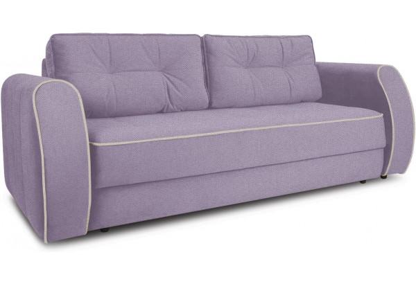 Диван «Хьюго» (Neo 09 (рогожка) фиолетовый кант Neo 02 (рогожка) бежевый) - фото 1