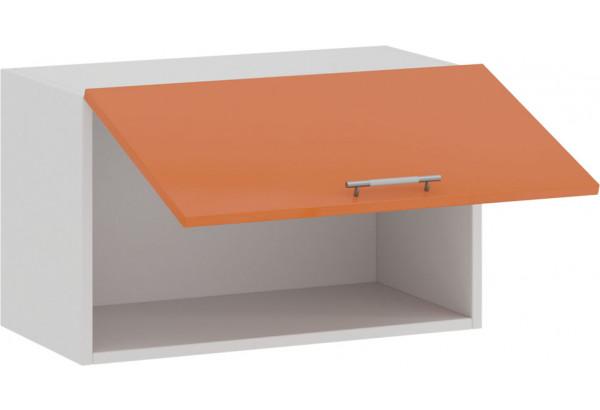 Шкаф навесной c одной откидной дверью «Весна» (Белый/Оранж глянец) - фото 2