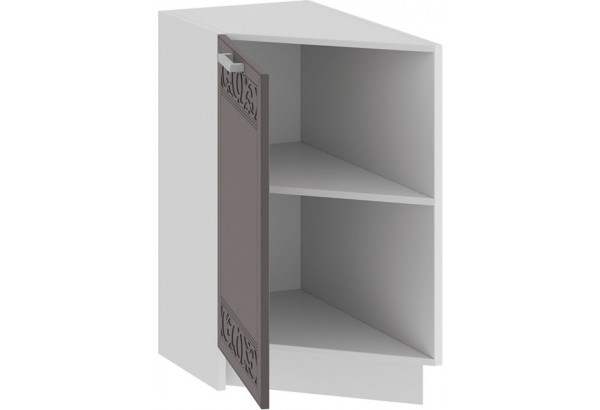 Шкаф напольный торцевой с одной дверью «Долорес» (Белый/Муссон) - фото 2