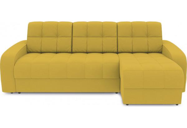 Диван угловой правый «Аспен Т1» (Poseidon Curcuma (иск.замша) желтый) - фото 2