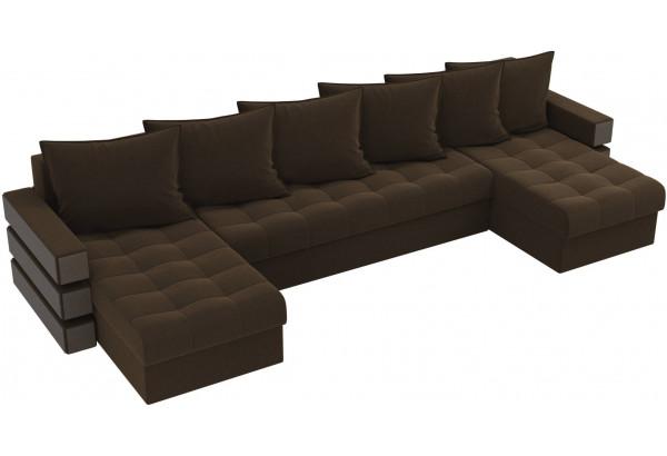 П-образный диван Венеция Коричневый (Микровельвет) - фото 4