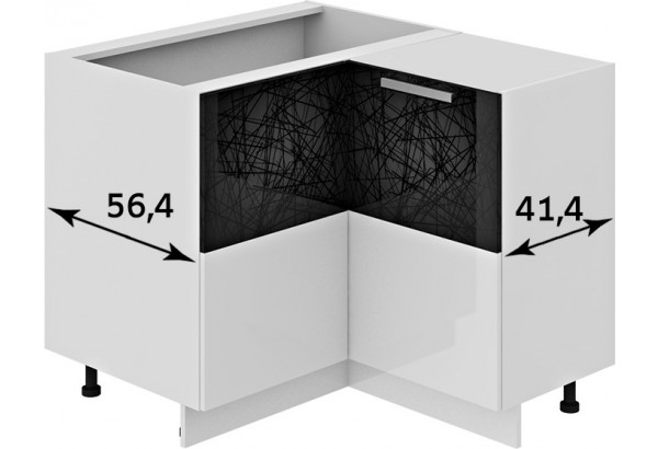 Шкаф напольный нестандартный угловой с углом 90° Фэнтези (Лайнс) - фото 3