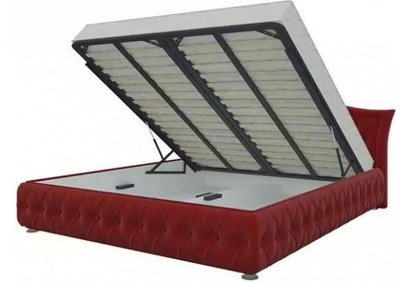 Интерьерная кровать Герда Красный (Микровельвет) - фото 2