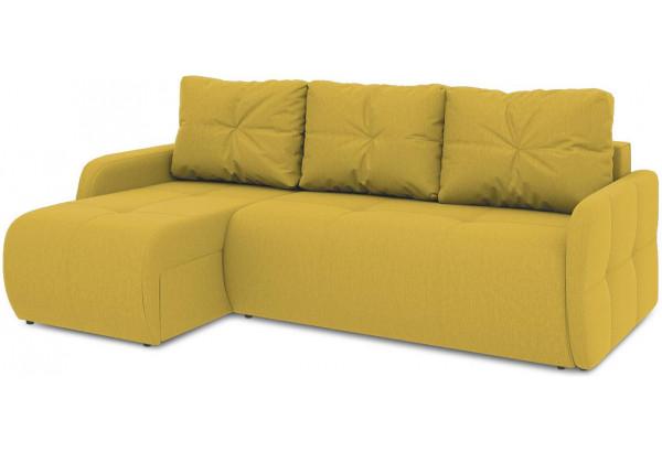 Диван угловой левый «Томас Slim Т1» (Poseidon Curcuma (иск.замша) желтый) - фото 1