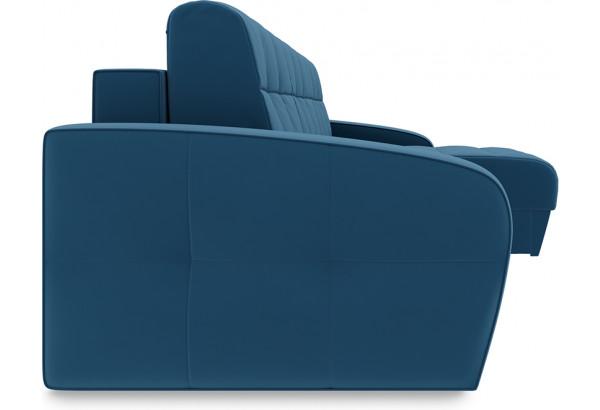 Диван угловой правый «Аспен Т1» Beauty 07 (велюр) синий - фото 3