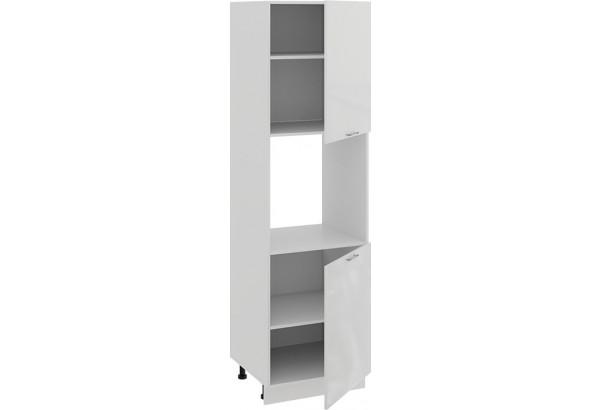Шкаф-пенал под бытовую технику с двумя дверями «Весна» (Белый/Белый глянец) - фото 2