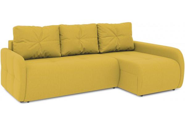 Диван угловой правый «Томас Slim Т2» (Poseidon Curcuma (иск.замша) желтый) - фото 1