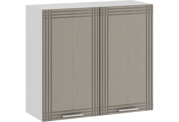 Шкаф навесной c двумя дверями «Ольга» (Белый/Кремовый) - фото 1
