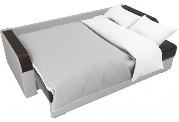 Прямой диван Мейсон Черный/Белый (Экокожа) - фото 7