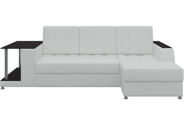 Угловой диван Атланта Белый (Экокожа) - фото 2