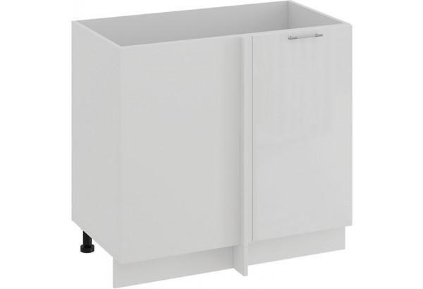 Шкаф напольный угловой «Весна» (Белый/Белый глянец) - фото 1