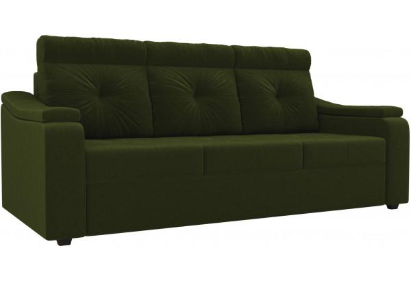 Диван прямой Джастин Зеленый (Микровельвет) - фото 1