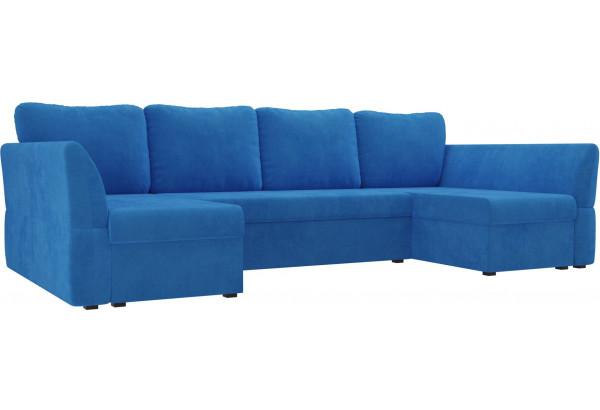 П-образный диван Гесен Голубой (Велюр) - фото 1