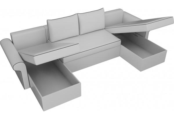 П-образный диван Милфорд Белый (Экокожа) - фото 5