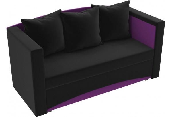Кушетка Чарли черный/фиолетовый (Микровельвет) - фото 4