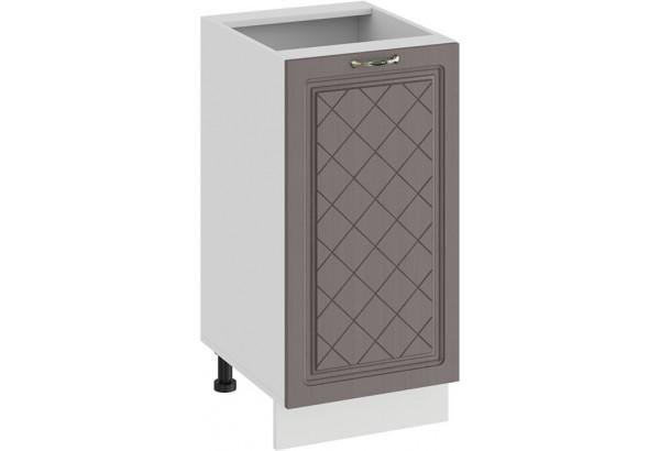 Шкаф напольный с одной дверью «Бьянка» (Белый/Дуб серый) - фото 1