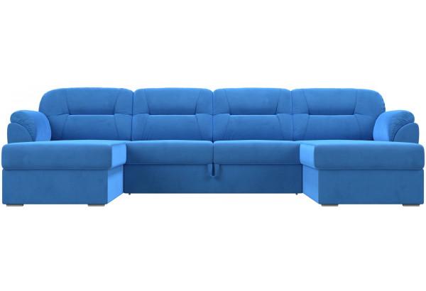 П-образный диван Бостон Голубой (Велюр) - фото 2