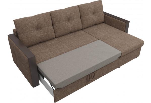 Угловой диван Валенсия Коричневый (Рогожка) - фото 6