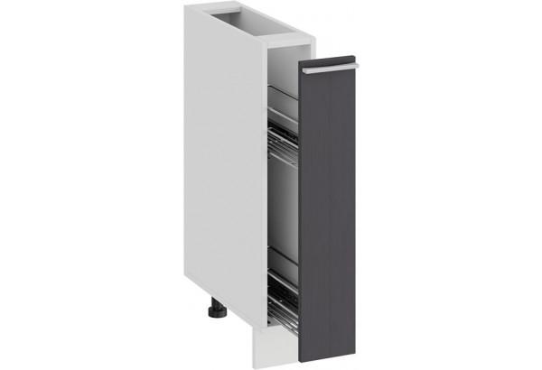 Шкаф напольный с выдвижной корзиной «Ольга» (Белый/Графит) - фото 2
