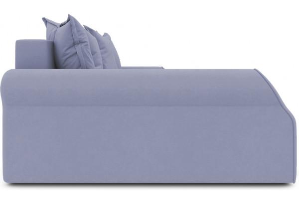 Диван угловой левый «Люксор Т2» (Poseidon Blue Graphite (иск.замша) серо-фиолетовый) - фото 5