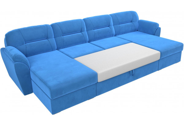 П-образный диван Бостон Голубой (Велюр) - фото 7