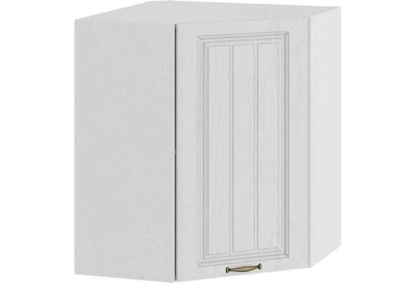 Шкаф навесной угловой «Лина» (Белый/Белый) - фото 1