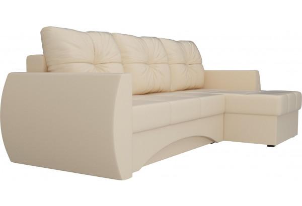 Угловой диван Сатурн Бежевый (Экокожа) - фото 3