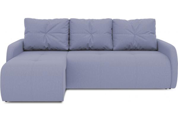Диван угловой левый «Томас Slim Т1» (Poseidon Blue Graphite (иск.замша) серо-фиолетовый) - фото 2