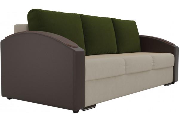 Прямой диван Монако slide бежевый/коричневый (Микровельвет/Экокожа) - фото 3