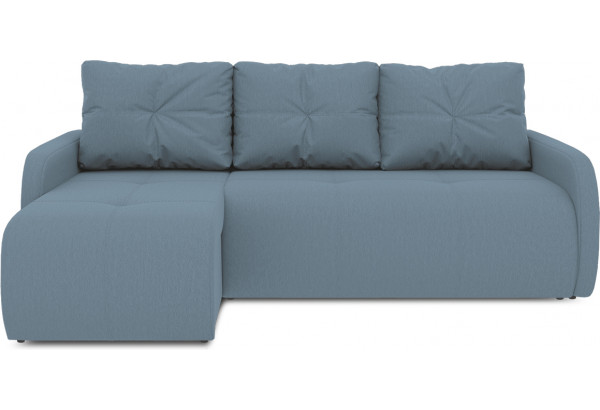 Диван угловой левый «Томас Slim Т1» (Poseidon Ocean (иск.замша) серо-голубой) - фото 2