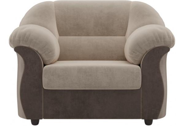 Кресло Карнелла бежевый/коричневый (Велюр) - фото 2