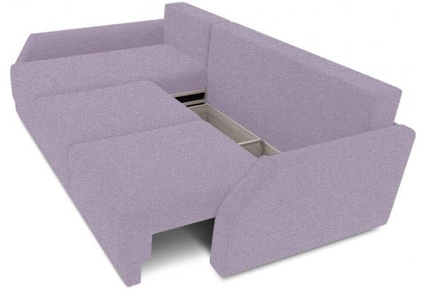 Диван угловой левый «Люксор Slim Т2» (Neo 09 (рогожка) фиолетовый) - фото 6