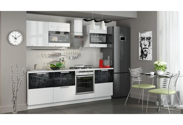 Кухонный гарнитур длиной - 240 см (со шкафом НБ) Фэнтези (Белый универс)/(Лайнс) - фото 2