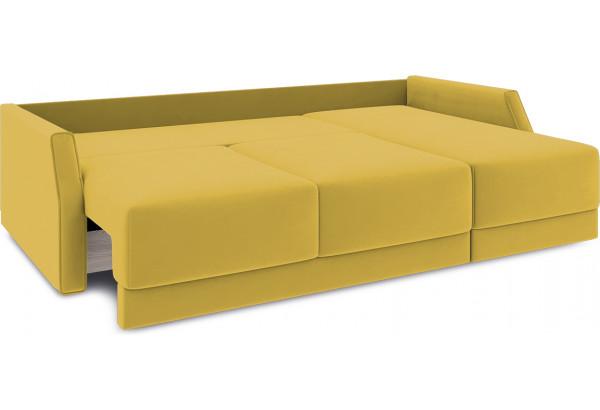 Диван угловой правый «Люксор Slim Т1» (Poseidon Curcuma (иск.замша) желтый) - фото 7