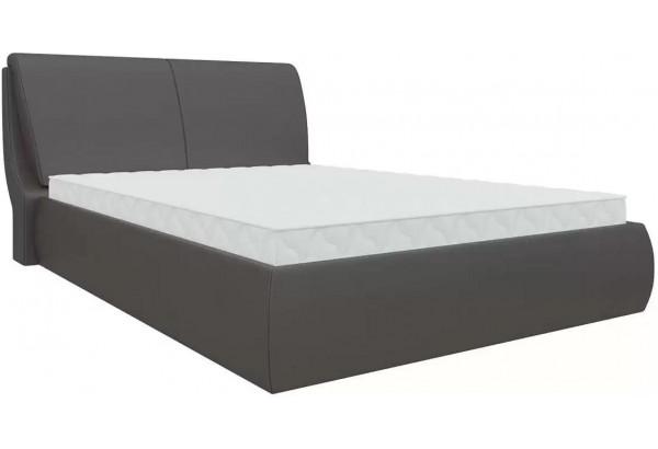 Интерьерная кровать Принцесса Коричневый (Экокожа) - фото 1