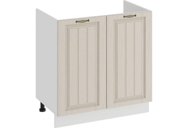 Шкаф напольный с двумя дверями (под накладную мойку) «Лина» (Белый/Крем) - фото 1