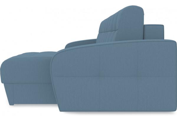 Диван угловой правый «Аспен Slim Т1» (Poseidon Ocean (иск.замша) серо-голубой) - фото 4