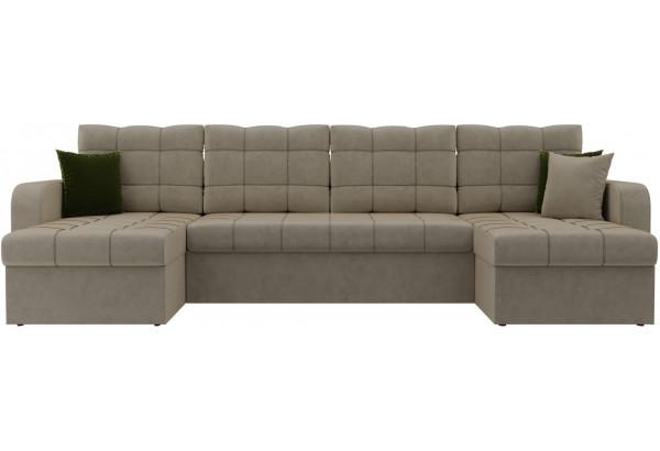 П-образный диван Ливерпуль Бежевый (Микровельвет) - фото 2