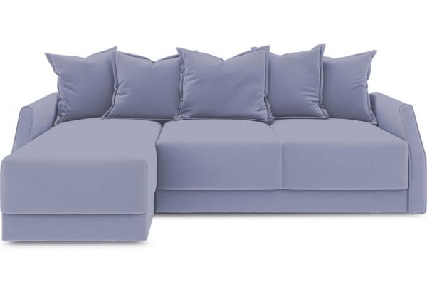Диван угловой левый «Люксор Slim Т1» (Poseidon Blue Graphite (иск.замша) серо-фиолетовый) - фото 2