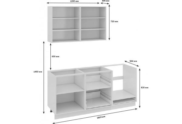 Кухонный гарнитур длиной - 180 см (со шкафом НБ) Фэнтези (Лайнс) - фото 3