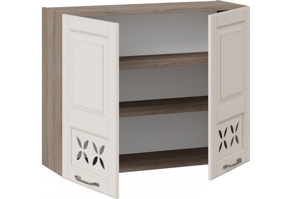 Шкаф навесной c декором (СКАЙ (Бежевый софт)) - фото 2