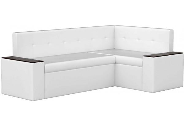 Кухонный угловой диван Остин Белый (Экокожа) - фото 1