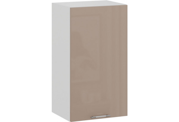 Шкаф навесной c одной дверью «Весна» (Белый/Кофе с молоком) - фото 1