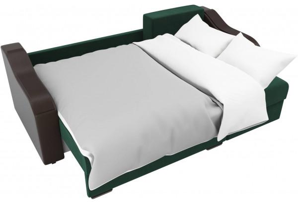 Угловой диван Монако зеленый/коричневый (Велюр/Экокожа) - фото 8